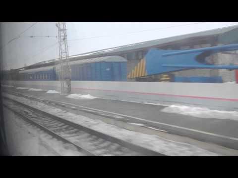 Станция Сасово Рязанской области из окна поезда.