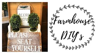 FARMHOUSE DIY | FARMHOUSE DIY DECOR | FARMHOUSE BATHROOM DECOR | DIY PROJECTS