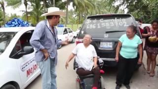 Caravana del Amigo Layin con los carros nuevos de  Semana Santa 2016 en San Blas