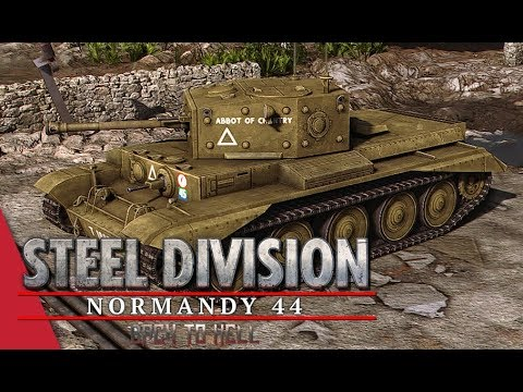 7th Armoured Showcase! Steel Division: Normandy 44 Gameplay (Colleville, 4v4)
