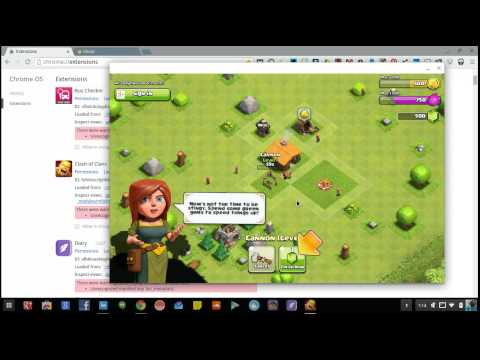 Clash Of Clans (Android App) Running On Chromebook