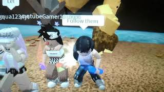 Playing Roblox ith my friend