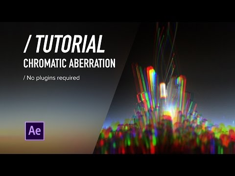 ( / ) AE TUTORIAL - Chromatic Aberration (No Plugins)