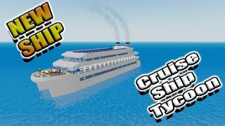 [Roblox: Cruise Ship Tycoon] NEW ALPHA REWARD SHIP