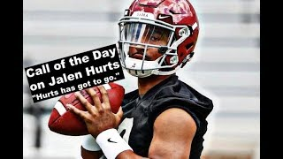 Controversial Call on BamaInsider: Jalen Hurts has got to go from Michael  in Los Angeles