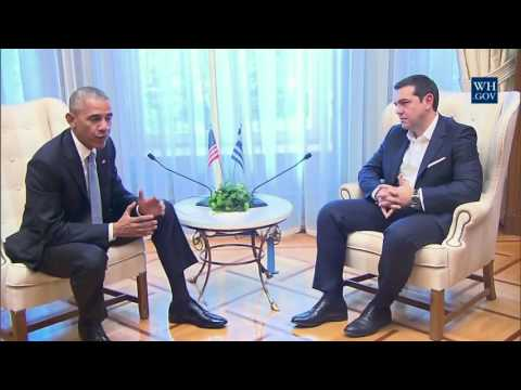 President Obama Meets with Prime Minister Alexis Tsipras