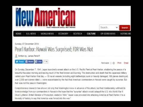 Pearl Harbor: Hawaii Was Surprised; FDR Was Not - James Perloff