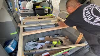 豐田塞納床車改造升級!第四集,開合床和邊櫃。
