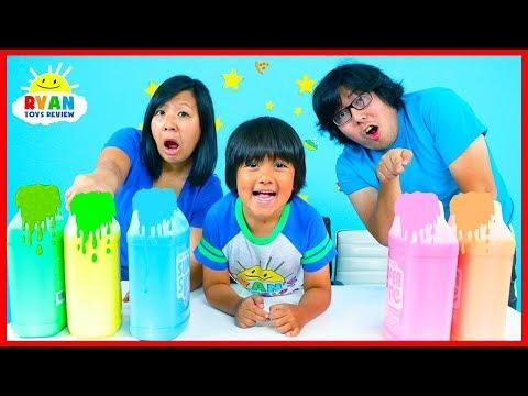 3 Color Mystery Slime Art Challenge!!!!!