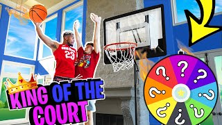 2HYPE Spin The Wheel King of the Court Mini Hoop Basketball Challenge !!