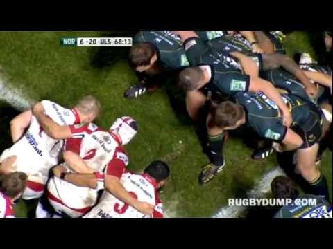 Dylan Hartley elbows Rory Best