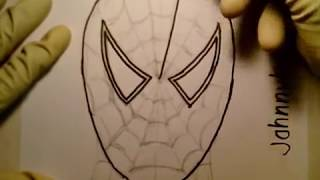 superhero draw easy step cartoon spiderman simple doodle web sketch