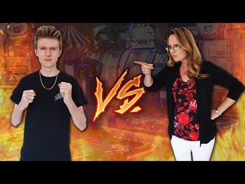 Arcade Warrior VS Mom - Arcade Challenge!