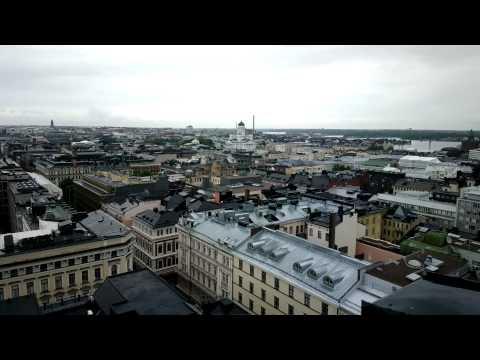 Helsinki skyline seen from Korkeavuorenkatu fire tower