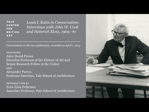 Louis I. Kahn in Conversation: Interviews with John W. Cook and Heinrich Klotz, 1969-70
