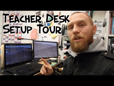 Teacher Desk/Setup Tour 2018 - Mr. Riedl