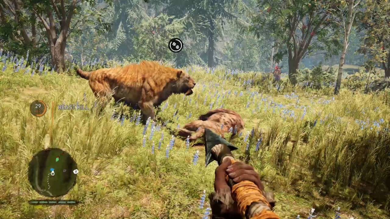 Far Cry Primal - Amazing Saber Tooth Hunting Animations