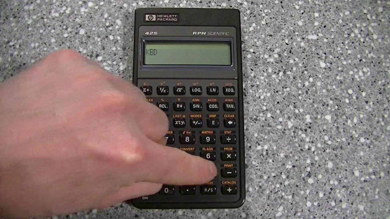 Hp42s manual array hewlett packard hp 42s rpn scientific calculator self u0026 manual test rh youtube com fandeluxe Image collections