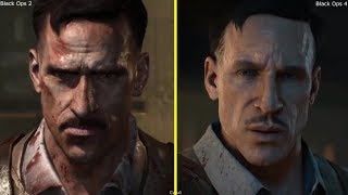 Call of Duty Black Ops 4 Blood of the Dead vs Black Ops 2 Mob of the Dead Character Comparison