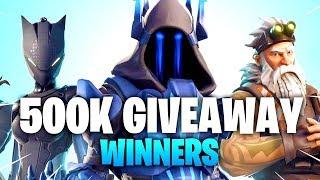 500,000 SUBSCRIBERS GIVEAWAY WINNERS! 18 WINNERS + 2 SPECIAL WINNERS (Season 7 Battle Pass Giveaway)