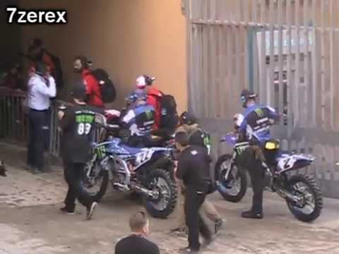 San Diego Supercross Riders Entering Tunnel Into Petco Park  1-14-2017