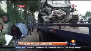 Accidente en la México Cuernavaca; mueren 4