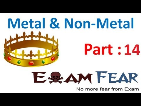 Chemistry Metal & Non Metals part 14 (Occurence & extraction of metal) CBSE class 10 X