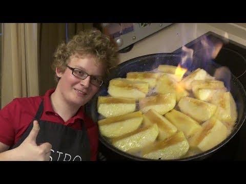 Супер рецепт запекания яблок! Попробовал французский способ  фламбе, получилось обалденно вкусно!