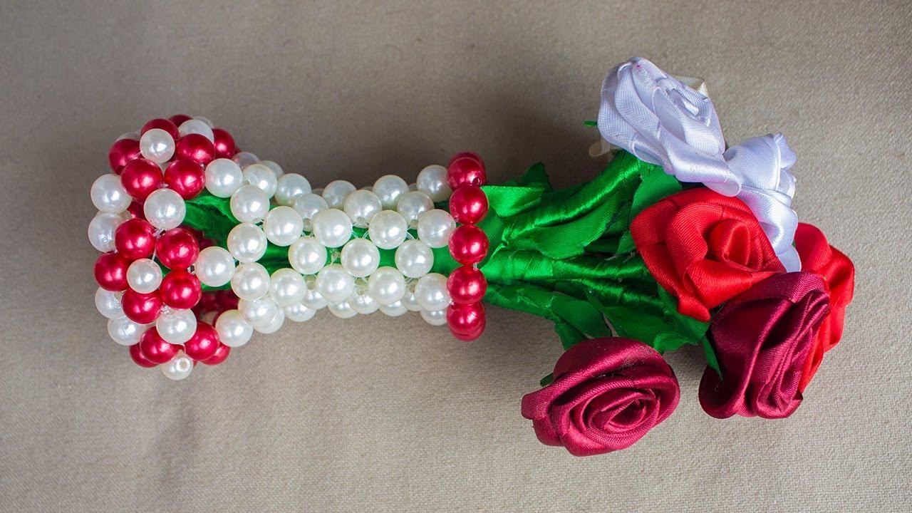 Download পুতির ফুলদানি - Beaded Flower Vase / Flower Pot / Flower Stand  / Putir Fuldani