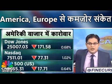 America, Europe से कमज़ोर संकेत   बाजार में क्या हो आज रणनीति?   Morning Call   CNBC Awaaz