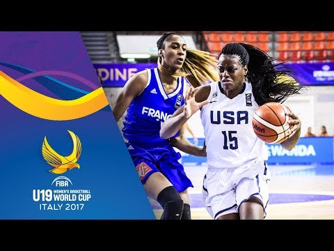 USA v France - Full Game - Quarter-Final - FIBA U19 Women's Basketball World Cup 2017