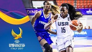 USA v France - Full Game - Quarter-Final - FIBA U19 Women's Basketball World Cup 2017