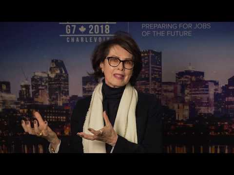 Dayle Haddon speaks about the future of work