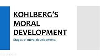 Kohlberg's moral development | stages of moral development | CDP | CTET/DSSSB