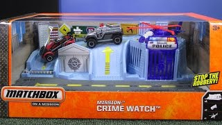 Matchbox Mission: Crime Watch (Police Diorama and Play Set) Matchbox On A Mission Adventure