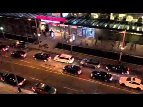 Toronto Raptors Game 7 Victory Cars Honking Streamers Flying
