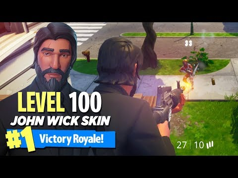 """MAX LEVEL """"John Wick"""" OUTFIT in Fortnite: Battle Royale (LEVEL 100!!)"""