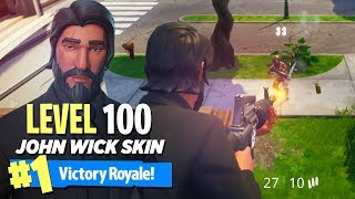 "MAX LEVEL ""John Wick"" OUTFIT in Fortnite: Battle Royale (LEVEL 100!!)"