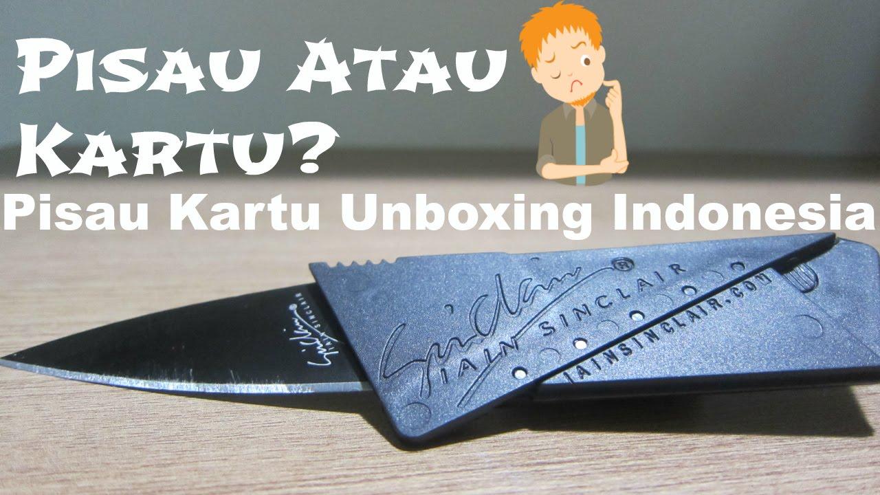 Pisau Atau Kartu Unboxing Indonesia Lipat Portable Bentuk Sinclair 2 Cardsharp Hidden Knife