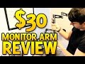 Monitor Arm Review - 3 Way Adjustable Ti