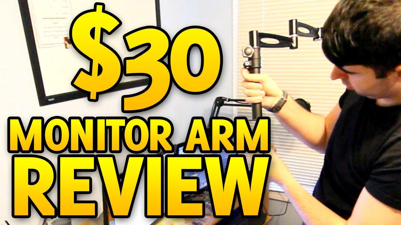 Monitor Arm Review 3 Way Adjustable Tilting Desk Mount Bracket