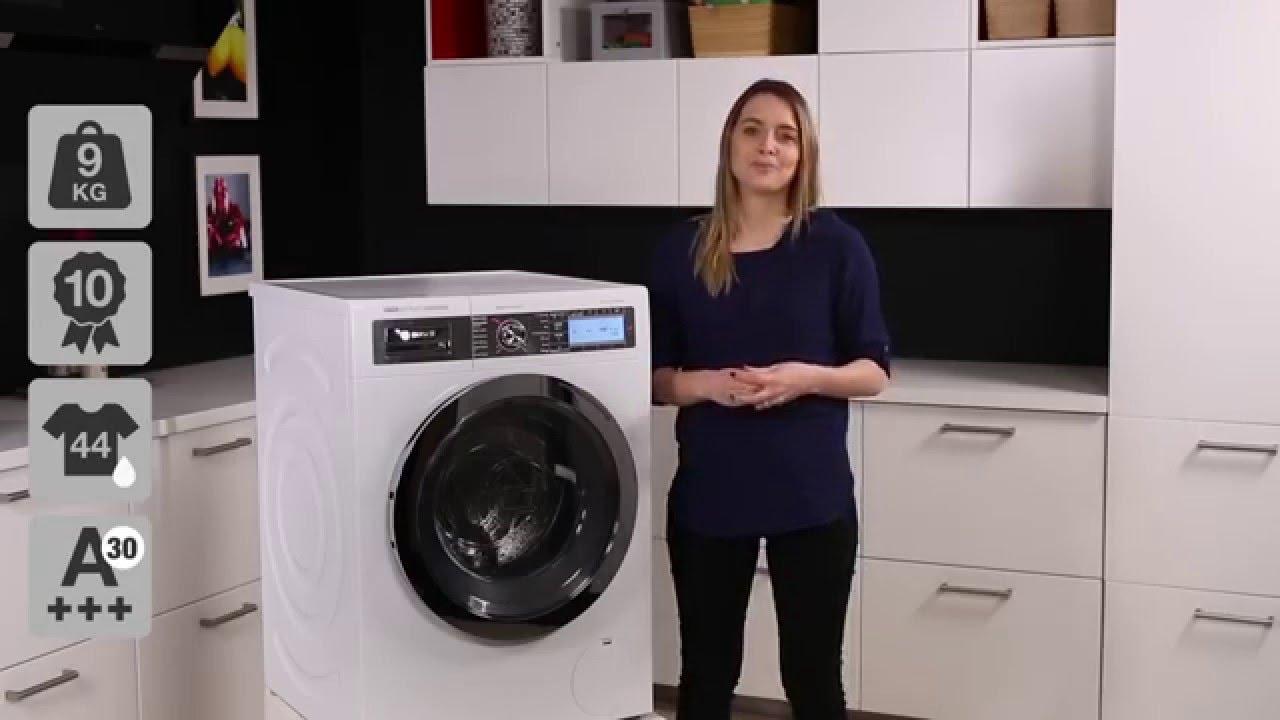 bosch i dos way32899sn vaskemaskine youtube. Black Bedroom Furniture Sets. Home Design Ideas