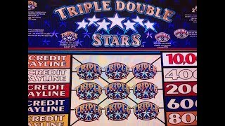 Break Even😊Triple Double Stars $1 Slot - 5 Lines @ Pechanga Casino 赤富士, アカフジ, カリフォルニア, カジノ, スロット