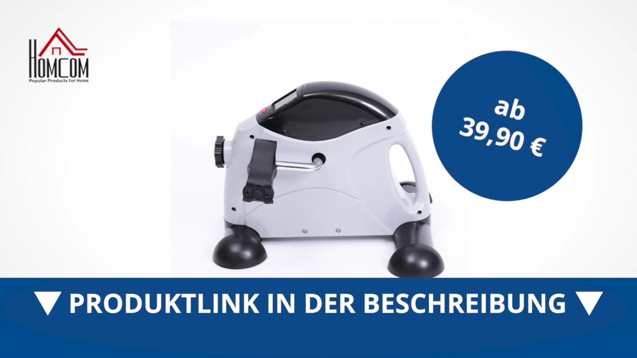 homcom heimtrainer mini bike fitnessger t hometrainer. Black Bedroom Furniture Sets. Home Design Ideas