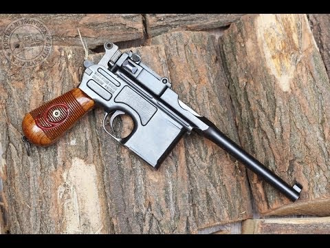 """Shooting the 9 mm Mauser C96 """"Red 9"""" Broomhandle pistol"""