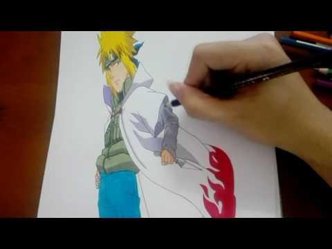 YukiNeko ART   Vẽ tay tranh 3D Minato đệ tứ trong Naruto