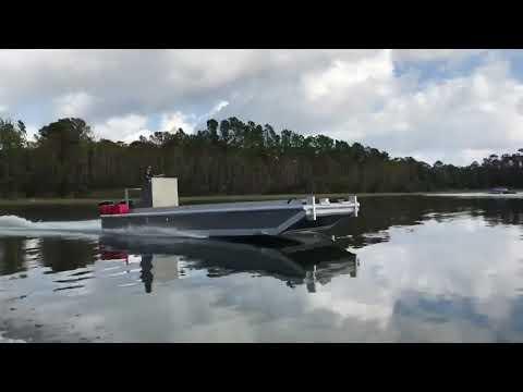 Dock construction building barge test run