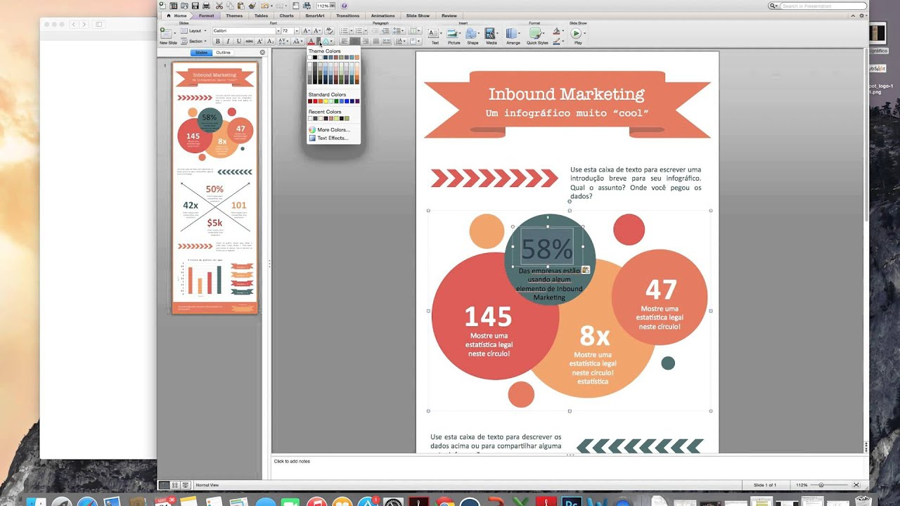 Tutorial como criar infogrficos no powerpoint youtube toneelgroepblik Image collections
