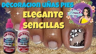 Uñas Elegantes Y Sencillas/♥Decoración De Uñas Pies Elegante/♥Chic Feet Nail Decoration