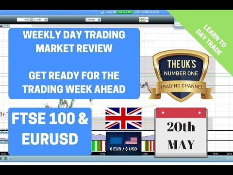 Weekly Day Trading Market Review FTSE 100 and Fx Pair EURUSD 20th May